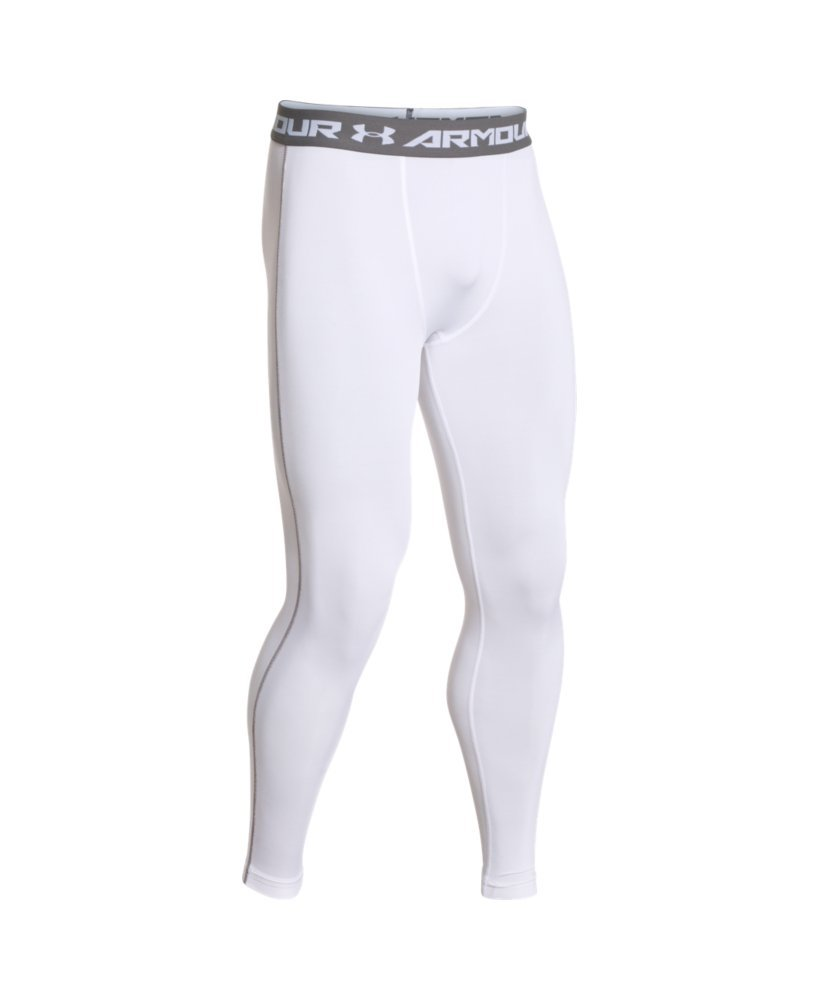 Under Armour Men's HeatGear Armour Compression Leggings, White /Graphite, Large by Under Armour (Image #4)