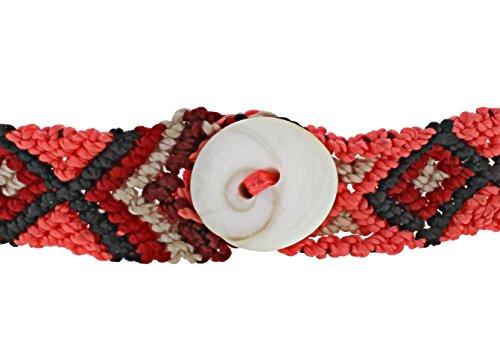 Dezso par Sara Beltran Unisexe en argent sterling Ouvrir l'eau sculpté à la main Blond Corail chioné classique avec Grenat en mer Noire Classique Tissé main bracelet mexicain