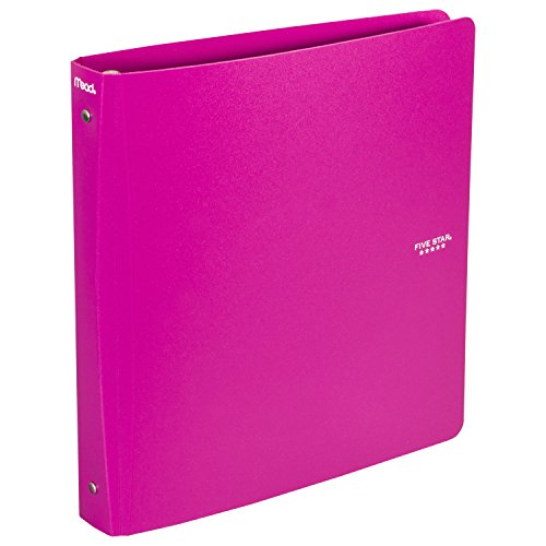 Five Star 3-Ring Plastic Binder, 1.5 Inch Capacity, 11.75