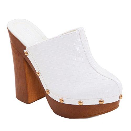 Toocool Toocool Mules Femme Mules Bianco pour B0gx8q