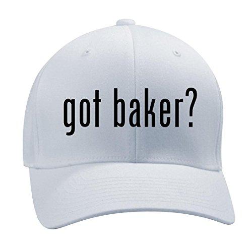 Got Baker    A Nice Mens Adult Baseball Hat Cap  White  Small Medium