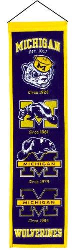 [NCAA Michigan Wolverines Heritage Banner] (Logo Heritage Banner)