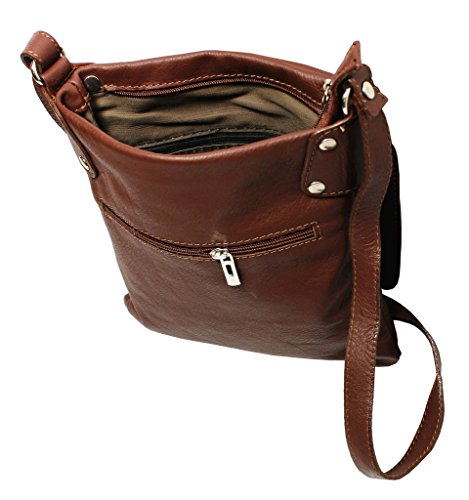 Soft Leather Vera Shoulder Handbag Pelle Italian Crossbody Bag Large White qTCnwBO4