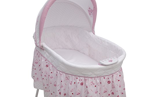 41MupdmolML - Disney Baby Ultimate Sweet Beginnings Bedside Bassinet - Portable Crib With Lights, Sounds And Vibrations, Disney Princess