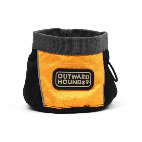 UPC 700603024884, Outward Hound Kyjen 2488 Port-A-Bowl Collapsible Travel Dog Food Bowl Water Bowll, Small, Orange