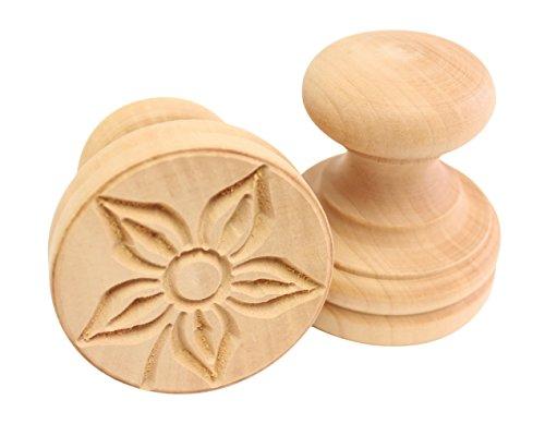 Paderno Flower - Paderno World Cuisine A4982277 Flower Corzetti Stamp, Brown