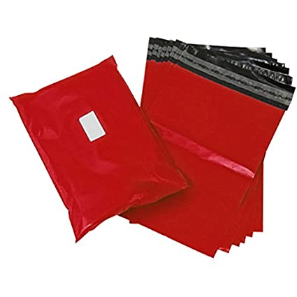 Triplast, 40 x 30 cm-Buste per posta in plastica, colore: rosso (Confezione da 100) MBRED12X16100