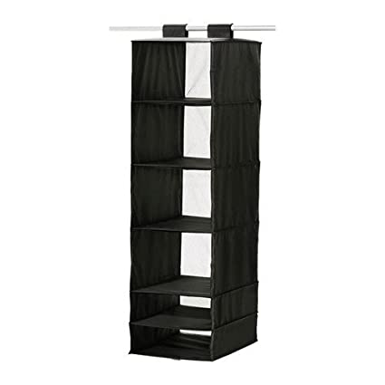Ikea Skubb Hanging Clothes Closet Storage Organizer Rack Black