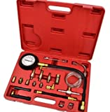 TOOLS GOO HOLD HIGH 140 PSI Gasoline Fuel Injection Pump Pressure Gauge Tester Test Tool Kit w/Case