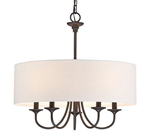 5 Light Dining Room Chandelier - Kira Home Quinn 21