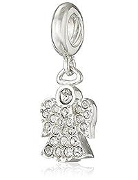 Chamilia Sterling Silver and Swarovski Crystal Angel Bead Charm