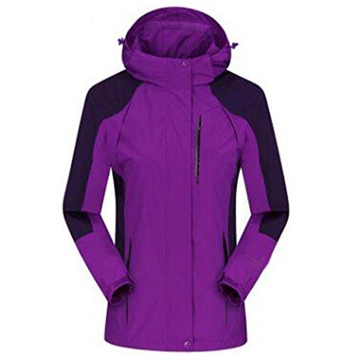Sezione Medio Sottile Grandi Di Alpinista Autunno All'aperto Cappotto Donna skin Giacche Purple Lai Single Dimensioni Invecchiato Wu Impermeabile R8wq00