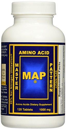 MAP Master Amino Acid Pattern 1000 mg 120 Tabs - 3 Pack - Free 20 Tabs