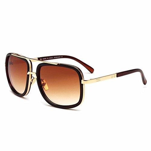 de gafas Los Aoligei sol moda I gafas Sapo sol de Metal de virola hombres gafas Hqx80qp