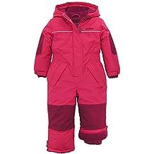Pink Platinum Little Girls Snowsuit 1-Piece Winter Snowmobile Snowboard Ski Suit, Pink Glow, 4T