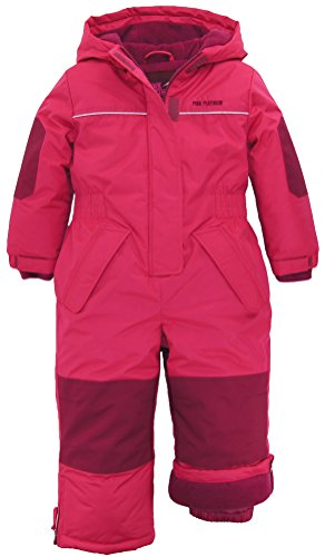 Pink Platinum Little Girls Snowsuit 1-Piece Winter Snowmobile Snowboard Ski Suit, Pink Glow, 3T