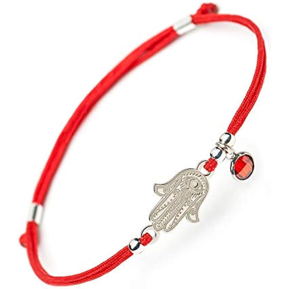 925 Sterling Silver Hamsa /& Infinity Women/'s Evil Eye Charm Bracelet #9053