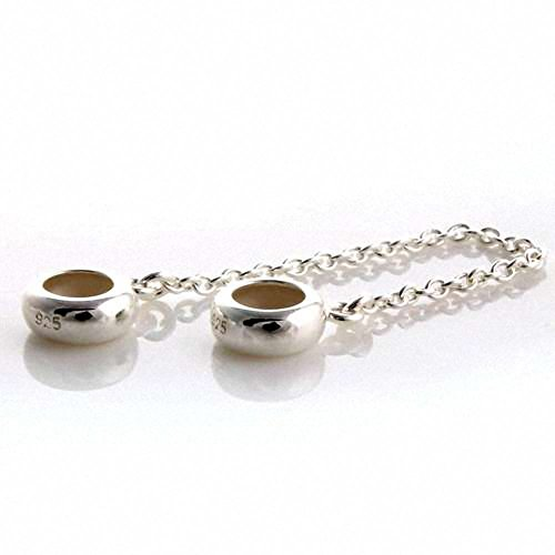 TAOTAOHAS Pure Sterling 925 Silver Chain Charm Beads Stopper Spacer [Ring Tempt] Fit European Bracelets