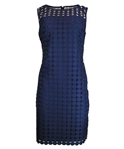 Lauren Ralph Lauren Womens Lace Sleeveless Cocktail Dress Navy 14