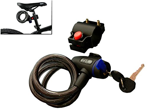 Wintech Cable Key Lock For Bike Bicycle Helmet
