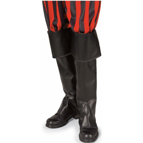 (Pirate Boot Tops Costume Accessory Black set)