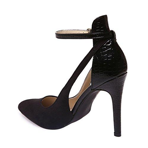 La Vestir Material Zapatos Sintético Modeuse Mujer Negro De qCwq4rBHR