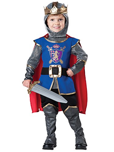 [InCharacter Baby Boy's Knight Costume, Blue/Grey, 4T] (King Toddler Costume)