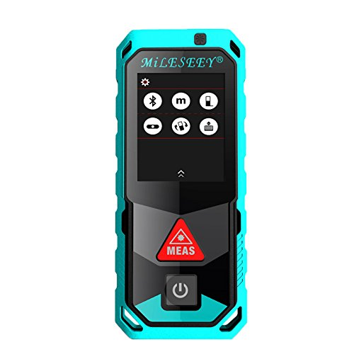 Mileseey P7 Laser Measure 262Ft Mute Laser Distance Meter, Digital Laser Tape, IP65 LCD and Pythagorean Mode, Measure Distance / Area and Volume, Auto Level, Laser Class II, Camera Bluetooth APP by Mileseey®