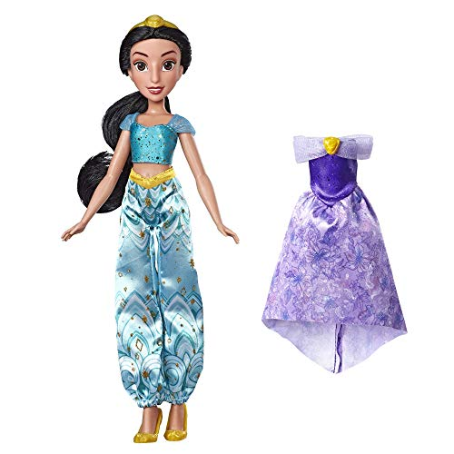 Disney Princess Enchanted Evening Styles, Jasmine Doll with 2 Outfits (Renewed) -
