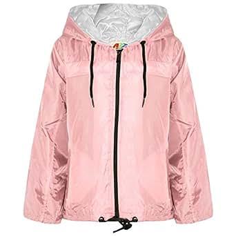 A2Z 4 KIDS Girls Boys Raincoats Jackets Cagoule Lightweight Jacket Hooded Rain Mac 5-13 Yr Baby Pink