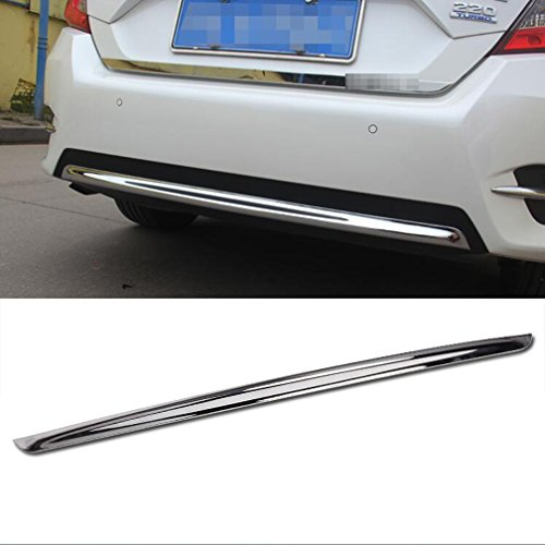 (Rqing For Honda Civic 10th 2016 2017 2018 Chrome ABS Rear Bumper Protector Cover Trim)
