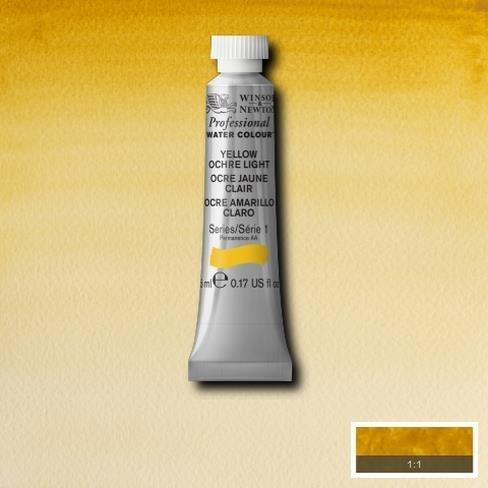 Winsor & Newton Artist Professional Watercolour Paint - 5ML Tube (Yellow Ochre Light)