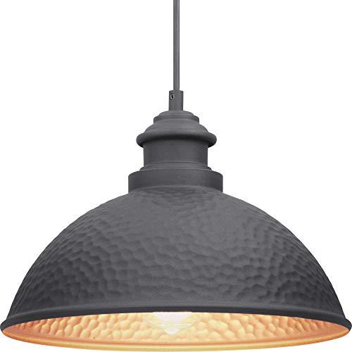 Progress Lighting P550032-031 Englewood Collection One-Light Hanging Lantern Black