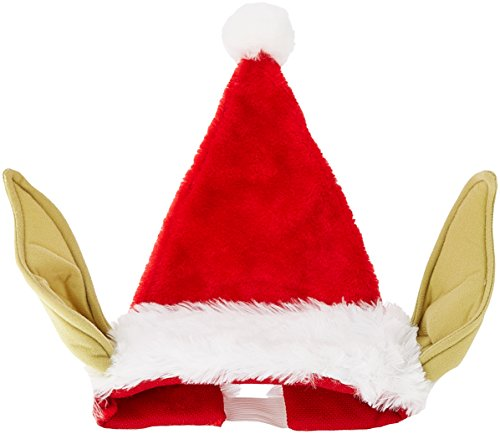 Kurt Adler Star Wars 17-Inch Plush Yoda Santa Hat with Bendable Ears (Funny Santa Costumes)