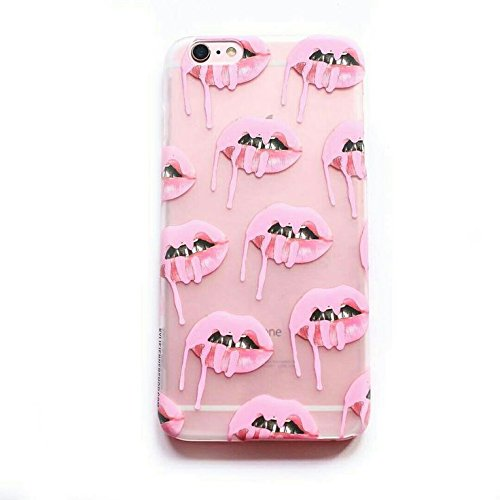 Iphone 7 8  4 7  Screen   Kylie K Jenner Cosmetics Sexy Lip Kit Candy Koko Kardashians Yeezy Sexy Transparent Clear Case Cover Funny Sexy Soft Tpu Case For Iphone 7 4 7 Inch Mus Co   Pink Frost Lips