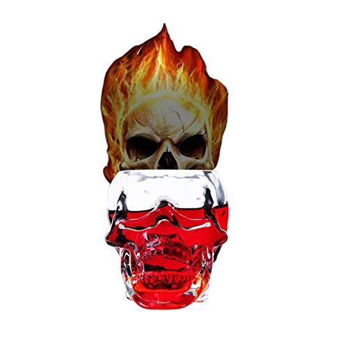 ✅Skull Shot Glass,Skull Mug,Skull Wine Glass,Whiskey Glass,Absinthe Glass 12 oz Glasses or Creative Ashtray (350ml))