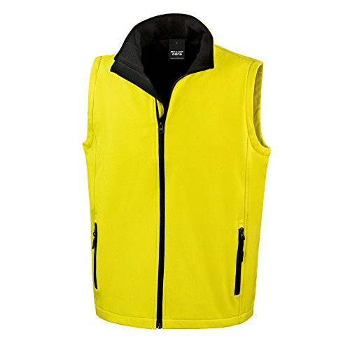 para Result Chaleco softshell Negro hombre Amarillo imprimir ideal para qPATaPxRvw
