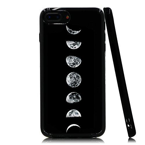 Lartin Moon Phases Soft Flexible Jellybean Gel TPU Case for iPhone 8 Plus/iPhone 7 Plus/iPhone 6S Plus/iPhone 6 Plus