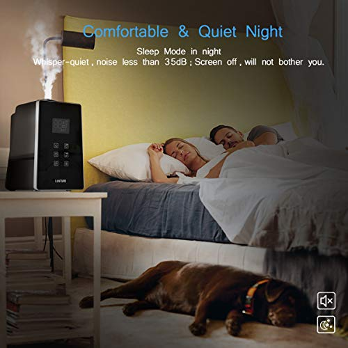 LANTARK Humidifiers, 6L/1.6 Gallon Warm and Cool Mist Ultrasonic Humidifier Aroma Diffuser for Large Room Bedroom Office Baby's Room with Remote and Humidity Monitor, Auto Shut-off, Whisper-Quiet Operation, Variable Mist Control, Humidity & Timer Control by LANTARK (Image #6)