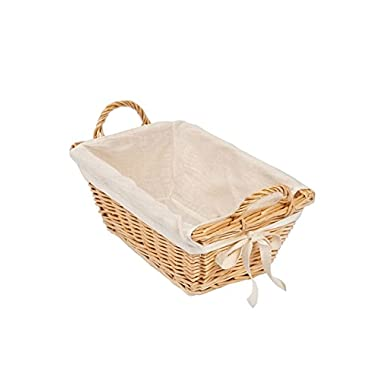 Burt's Bees Baby Bee Organized Wicker Basket, Natural, Medium