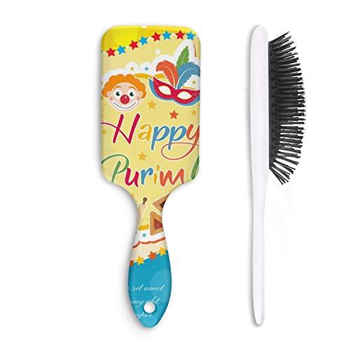 Airbag Massage Comb purim carnival poster invitation flyer mask Good Quality Detangler Hairbrush for Women Men Kids Hair Brush