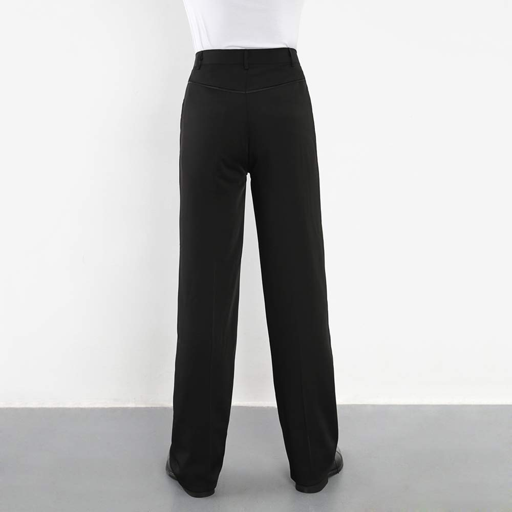 46808d65f76df Hao Run Men Ballroom Latin Salsa Modern Dance Pants Smooth Competition  Practice Trousers
