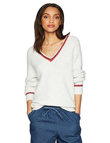 Velvet by Graham & Spencer Women's Simona Vneck Sweater, Ash, M