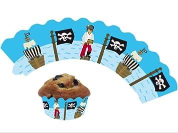 Perfekt 12 Piraten / Kinderpiraten Cupcake Deko Banderolen Von DH Konzept  // Muffinförmchen Muffin
