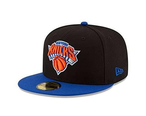 2 Tone 59fifty Cap (NBA New York Knicks Men's 2-Tone 59FIFTY Fitted Cap, 7.375, Black)