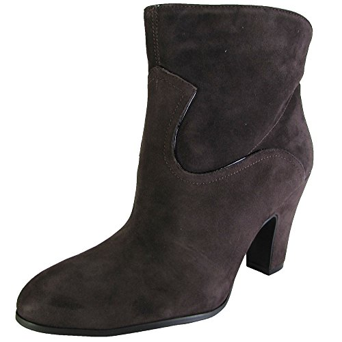 Nine West Women's Quarrel Suede Boot, Dark Brown/Black, 8.5 M US (Multi Brown Suede Footwear)