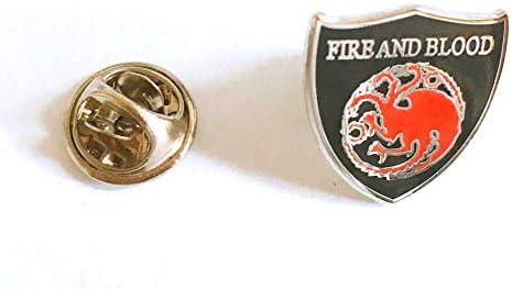 Pin Juego de Tronos Casa Targaryen Shield: Amazon.es: Ropa y accesorios