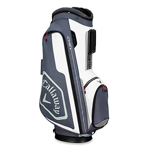 Callaway Golf 2019 Chev Cart Bag, Titanium/White/Silver