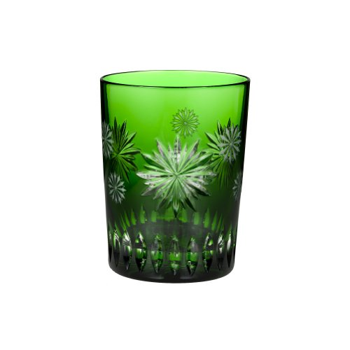 Waterford Crystal Snowflake Wishes for Courage Emerald Double Old Fashioned Glass, 2nd (Waterford Crystal Old Fashioned Glass)