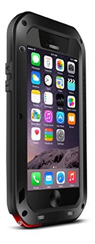 Love Mei Extrem Military Cover Hartmetall für iPhone 6 Corning Gorilla-Glas, stoßfest, staub- und wasserdicht in schwarz